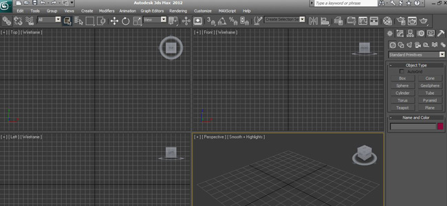 interfaccia 3DS MAX