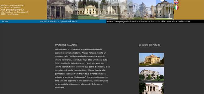 sito web Palladio moderno