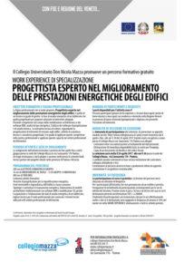 Locandina work experience collegio mazza